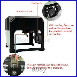 3500MW Laser Engraving Cut Machine DIY Logo Printer Carver CNC Engraver Desktop