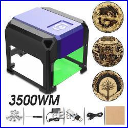 3500MW USB Laser Engraving Engraver Machine DIY Wood Cutter Logo Printer 8x8cm