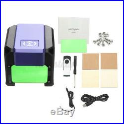 3500mW DIY Laser Engraver Printer Cutter Logo Mark Engraving Machine Purple IE