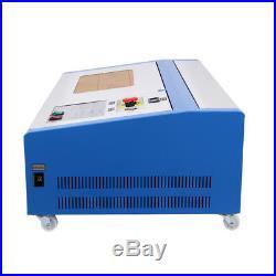 4 Wheel 40W CO2 Laser Engraving Cutting Machine 300x200mm Engraver Cutter USB