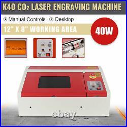 40W 12x 8 CO2 Laser Engraver Cutter Engraving Cutting Machine K40 Omtech YW