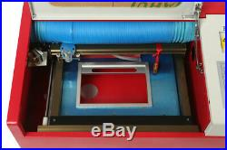 40W CO2 12x8 Inches Laser Engraving machine with Rotary Wheels & LCD Screen
