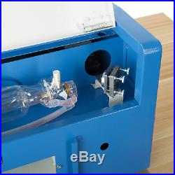 40W CO2 Laser Engraver Cutting Machine Crafts Cutter with Water-Break Protection