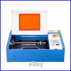 40W CO2 Laser Engraver Cutting Machine Cutter with Digital Electric Current Displa