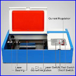 40W CO2 Laser Engraving Cutting Machine Engraver Cutter USB Port High hot
