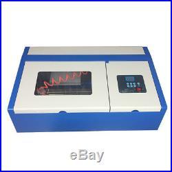 40W CO2 Laser Engraving Cutting Machine Laser Engraver Cutter 300x200mm USB
