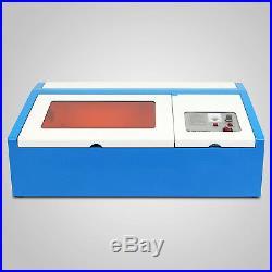 40W CO2 Laser Engraving Machine Engraver Cutter Exhaust Fan USB Port 300x200mm