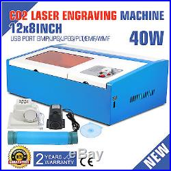 40W CO2 USB Laser Engraving Cutting Machine Engraver Cutter 300 x 200mm