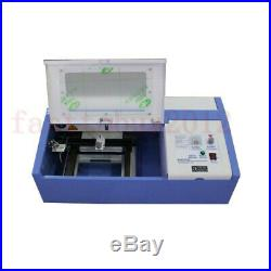 40W Co2 USB CNC Laser Engraving Cutting Machine Engraver Cutter 700mm Laser Tube