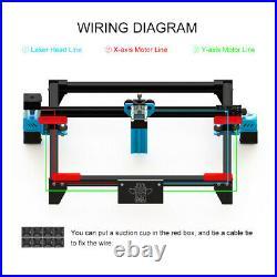 40W DIY CNC Laser Engraving Cutting Machine Engraver Logo Printer Desktop Cutter