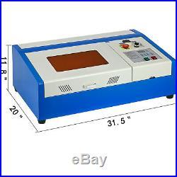 40W Desktop CO2 Laser Engraving Cutting Machine/Laser Engraver cutter 300200mm