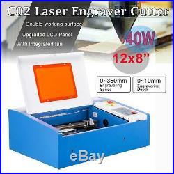 40W High Precision CO2 Laser Engraver Cutting Engraving Engraver Machine USB