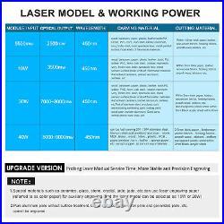 40W Laser Engraving Cutting Machine DIY Engraver Cutter Printer CNC Router US