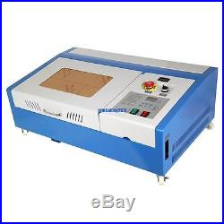 40W USB Port CO2 Laser Engraving Cutting Machine Engraver Cutter With Wheels