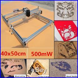40X50CM Mini Laser Engraving Machine 500mW Marking Wood Printer DIY Logo Cutting