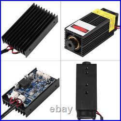 450nm 15W Blue Laser Module + AC Adaptor for DIY Laser Engraving Machine TTL