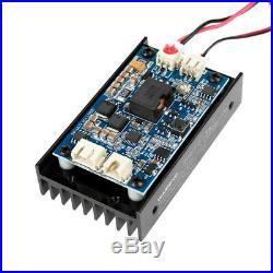 450nm 15W Laser Module With Heatsink Fan Support TTL/PWM for DIY Laser Engraver HF