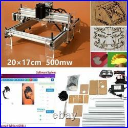500MW DIY Mini Adjustable Laser Engraving Cutting Machine Desktop Printer