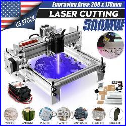 500MW DIY Mini Laser Engraving Cutting Machine Adjustable Desktop Printer Kit