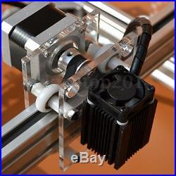 500MW Mini Laser Cutting Engraving Machine Printer Kit Desktop 20x17cm DIY New