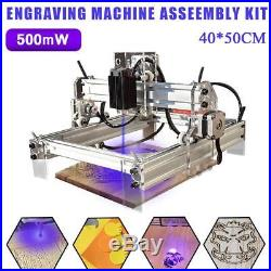 500mw 40x50 DIY Mini Laser Engraving Cutting Machine Desktop Printer Kit