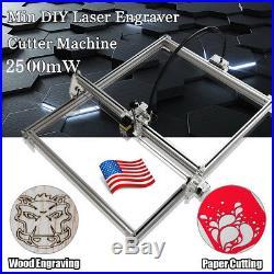 5065cm 2500MW DIY Desktop Laser Engraving Machine Cutter Printer Engraver