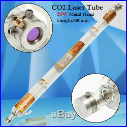 50W 800mm CO2 Laser Tube Metal Head Glass Pipe For Cutting Engraving Machine