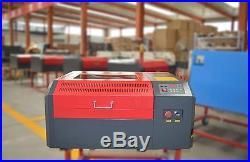 50W CO2 Laser Engraver Cutting Logo Marking Engraving Machine 400400mm Desktop