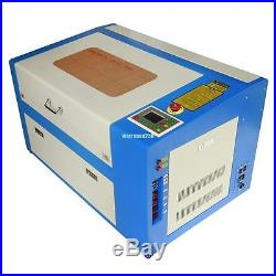 50W CO2 Laser Engraving Machine Engraver Cutter With Auxiliary Rotary Device