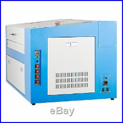 50W CO2 Laser Engraving Machine Engraver Cutter with Auxiliary Rotary 2012