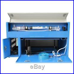 50W CO2 Laser Engraving Machine Engraver Cutter with Auxiliary Rotary + CNC ROTARY