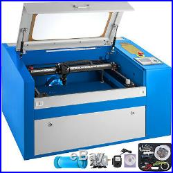 50W Engraving Cutting CO2 Laser Machine 2012 Engraver Cutter W. Rotary Dark