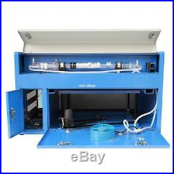 50W Engraving Cutting CO2 Laser USB Machine Engraver Cutter Water Cooling Tube