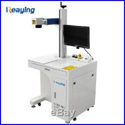 50W Fiber Laser Marking Machine Laser Engraver 300300 and rotary axis fedex