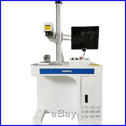50W Fiber Laser Marking Machine Laser Engraver 300300mm and rotary axis