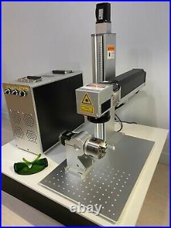 50W JPT MOPA LP-E Fiber Laser Marking Motorized Z-Axis Metal Engraving US Stock