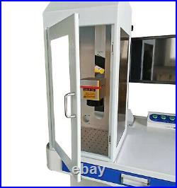 50W MAX Fiber Laser Marking Machine Metal marking and cutting rotary axis SAFE