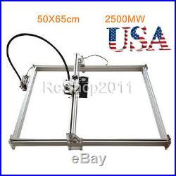 50X65cm 2500MW DIY Desktop Laser Engraving Machine Cutter Printer Carver US