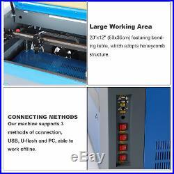 50w CO2 USB Laser Engraving Cutting Machine Engraver Cutter 500mm x 300mm 2012
