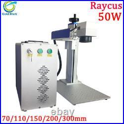 50w Raycus fiber laser marking machine for cutting metal gold silver jewelry EU