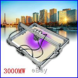 50x65cm CNC 3000mW Laser Engraving Machine 2Axis DC 12V DIY Engraver Desktop USA