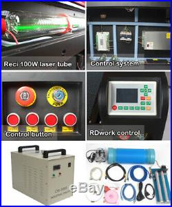6090 100W Laser Cutter Engraving Machine & CW-3000 Water Chiller & Rotary Axis