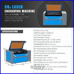 60W 24x16In Workbed CO2 Laser Cutting Engraving Machine Engraver Cutter Laser En