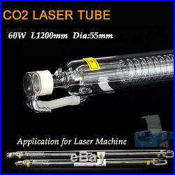 60W CO2 Laser Engraver Glass Tube D55mm for Co2 Laser Engraving Cutting Machine