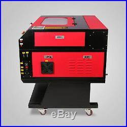 60W CO2 Laser Engraving Cutting Machine Engraver Cutter USB Port High Precise