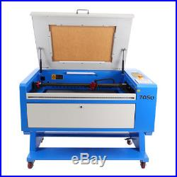 60W CO2 USB Laser Engraver Cutting Machine 700X500MM with Water Chiller CNC Rotary