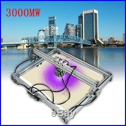 65x50cm Area 3000mW Mini Laser Engraving Carving Machine Printer Kit DIY Desktop