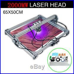 65x50cm DIY Desktop Laser Engraving Engraver Machine CNC Cutter Printer 2000mW