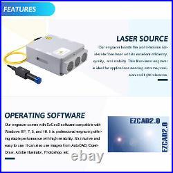 7.9x 7.9 20W Fiber Laser Marking Machine Engraver For Metal Marker