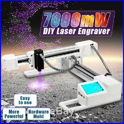 7000mW 7W Laser Engraver Printer Cutter Carver Logo Engraving Machine DIY